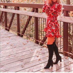 Dresses - Moody Floral Wrap Dress